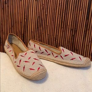 Bass hot chili peppers flat espadrille shoes